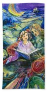 Magical Storybook Beach Towel by Jen Norton