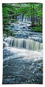 Magical Waterfall Stream Beach Sheet