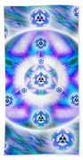 Magnetic Fluid Harmony Banner Beach Towel