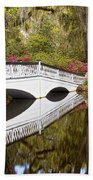 Magnolia Gardens' Bridge Beach Towel