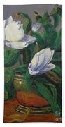 Magnolias On Brass Beach Sheet