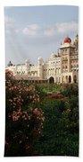 Maharaja's Palace And Garden India Mysore Beach Towel