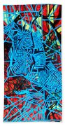 Maiden In Blue - Mary In The Temple Beach Towel