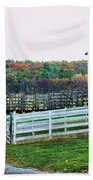 Mail Pouch Tobacco Barn In The Fall Beach Towel