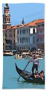 Main Canal Venice Italy Beach Towel
