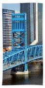 Main Street Bridge Jacksonville Florida Beach Towel