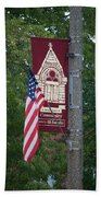 Main Street Flags Dwight Il Beach Towel