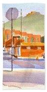 Main Street In Morning Shadows Beach Towel