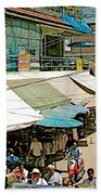 Main Street Marketplace In Tachilek-burma Beach Towel