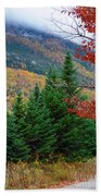 maine 57 Baxter State Park Loop Road Fall Foliage Beach Towel