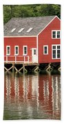 Maine Boat House Beach Towel