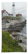 Maine Coastline  Beach Towel