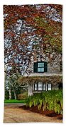 Maine Cottage In Spring Beach Towel