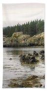 Maine's Beautiful Rocky Shore Beach Towel