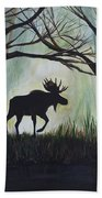 Majestic Bull Moose Beach Towel