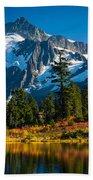Majestic Mount Shuksan Beach Towel by Inge Johnsson