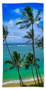 Majestic Palm Trees Beach Towel
