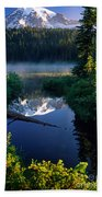 Majestic Reflection Beach Towel by Inge Johnsson