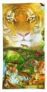 Majestic Tiger Grotto Beach Towel