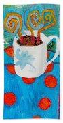 Coffee  By Janelle Dey Beach Towel
