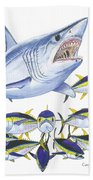 Mako Attack Beach Towel