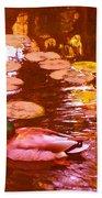 Malard Duck On Pond 3 Beach Sheet