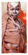 Malawi Child Sketch Beach Towel
