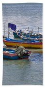 Malaysian Fishing Jetty Beach Towel
