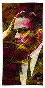 Malcolm X 20140105 Beach Towel