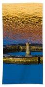 Male Mallard Duck Beach Towel by Carolyn Marshall