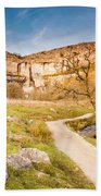 Malham Cove In Malhamdale Beach Towel