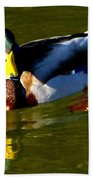 Mallard Male Duck Beach Towel