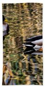 Mallards In The Reeds Beach Towel