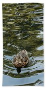 Mallards On Golden Pond 4 Beach Towel