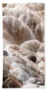 Mammoth Hot Springs Closeup Beach Towel