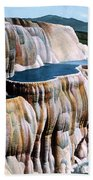 Mammoth Hot Springs Yellowstone Np Beach Towel
