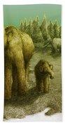 Mammoths Beach Towel