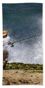 Man Versus The Sea Beach Towel