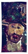 Man With A Hat Beach Towel
