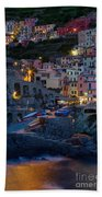 Manarola By Night Beach Towel