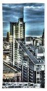 Manchester Buildings Hdr Beach Towel