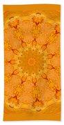 Mandala Night Bloom Beach Towel