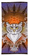 Mandala Owl Beach Towel