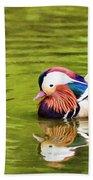 Mandarin Reflection Beach Towel