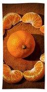 Mandarin - Vignette Beach Towel by Kaye Menner