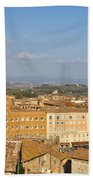 Mangia Tower Piazzo Del Campo  Siena  Beach Towel