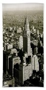 Manhattan And Chrysler Building II Beach Towel