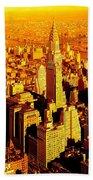 Manhattan And Chrysler Building Beach Towel