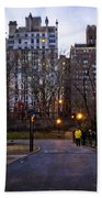 Manhattan At Dusk Beach Towel