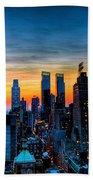 Manhattan At Sunset Beach Towel